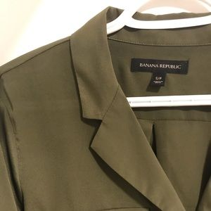 Banana Republic Tops - Olive Green Silky Top